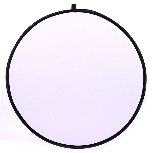 CY 43inch 110cm flash Translucent reflector Portable Collapsible Light Round Photography Reflector for photo Studio Photo Disc
