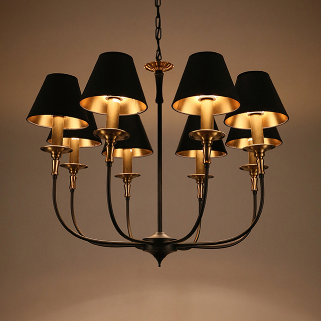 North American country style chandelier chandelier retro copper ...