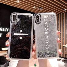 Glitter Quicksand Liquid Case For iPhonex XS XR XSMAX Back Cover Dynamic Hard PC iPhone6s 7 8 Plus Casing Capa