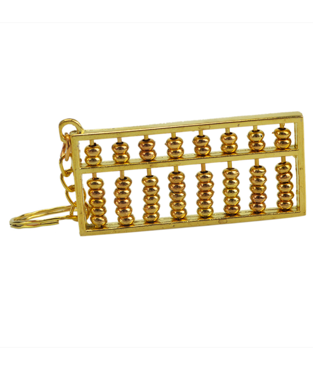 Miniature Brass Abacus Keychain Amulet Keychains Home Decoration Car ...
