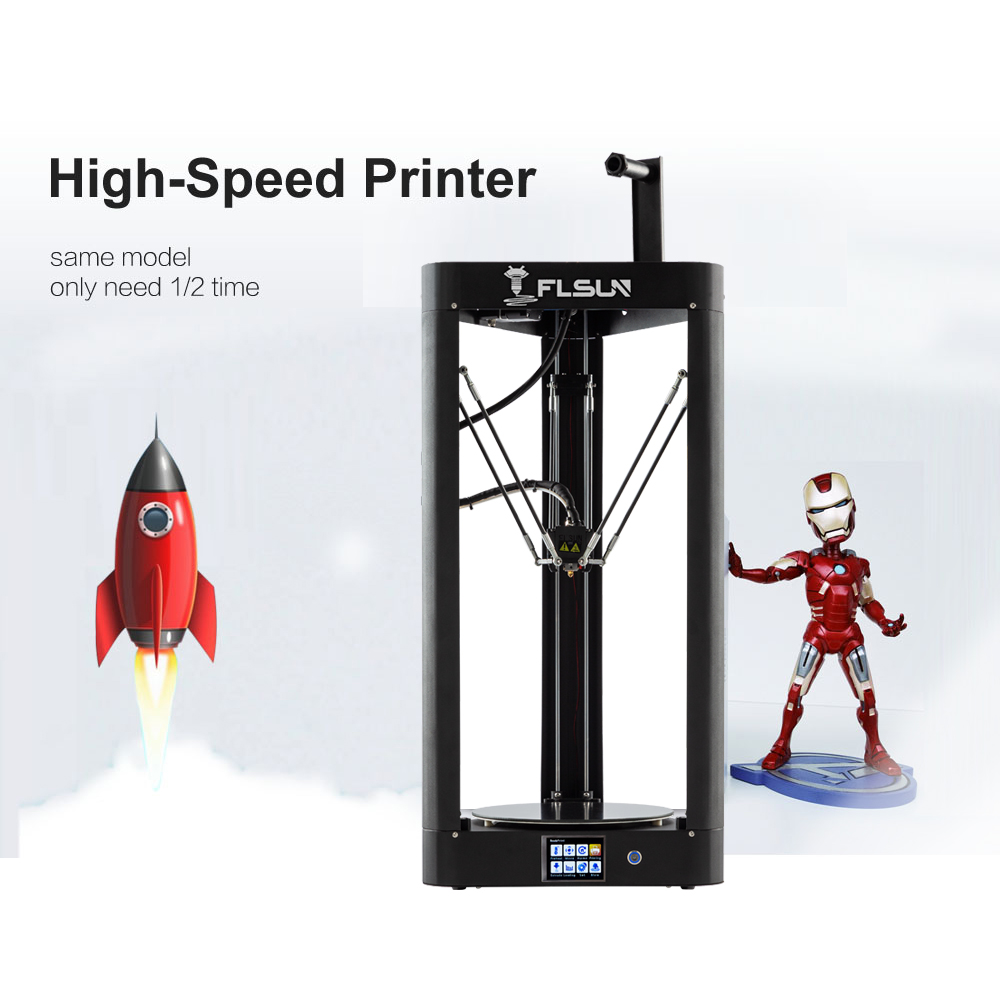 Image 3 - 3D Printer Flsun QQ S Delta Kossel Auto Level Upgraded Resume Pre assembly TFT 32bits board impressora 3d-in 3D Printers from Computer & Office