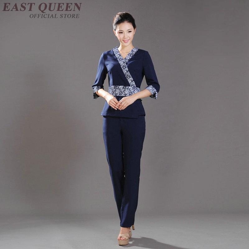 Spa thai massage beautician uniform beauty salon waitress for Uniform thai spa