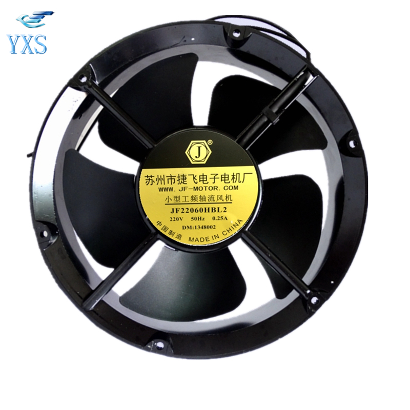 JF22060HBL2 AC220V-240V 65W 0.25A 2600RPM 22060 22CM 220*220*60mm Small Power Frequency Axial Cooling FanJF22060HBL2 AC220V-240V 65W 0.25A 2600RPM 22060 22CM 220*220*60mm Small Power Frequency Axial Cooling Fan