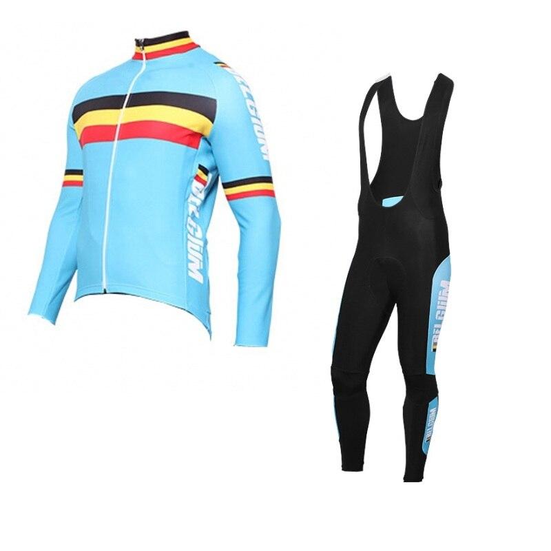 Squadra Belgio invernale in pile termico Ciclismo jersey bandiera Belga scaldino bike MTB abbigliamento Ropa ciclismo maillot Bicicletta GEL PAD