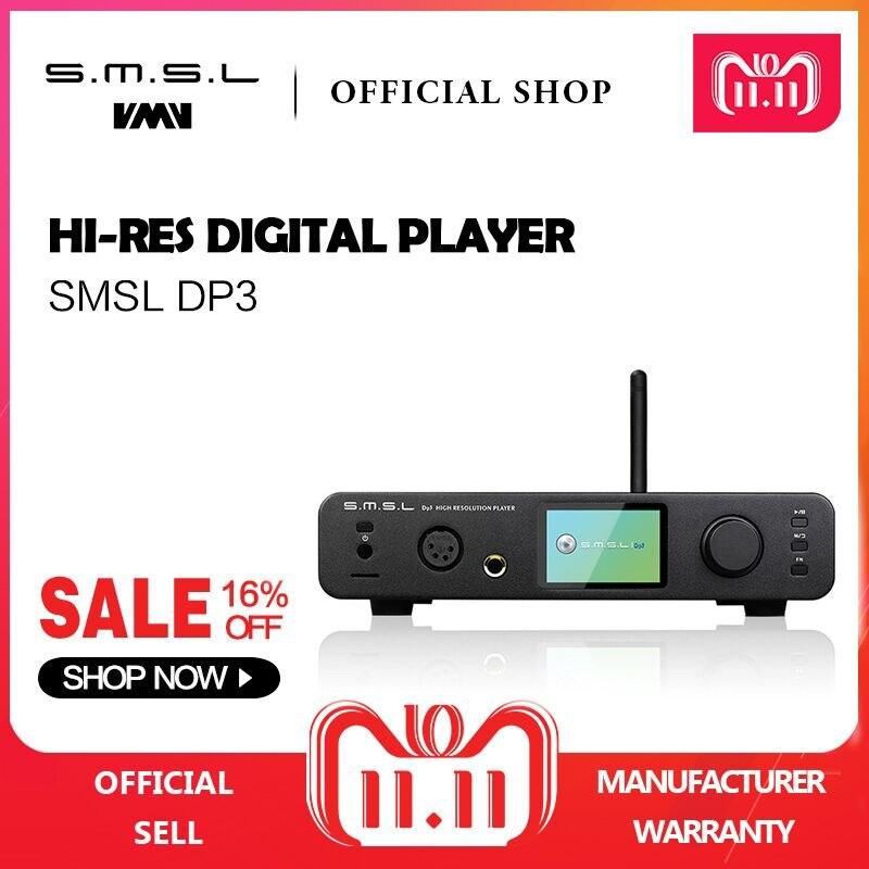 SMSL DP3 DAC ES9018Q2C USB Décodeur Amplificateur Équilibré Numérique Bluetooth4.0 LAN Réseau WIFI DSD Coaxial/Optique DAC Audio AMP