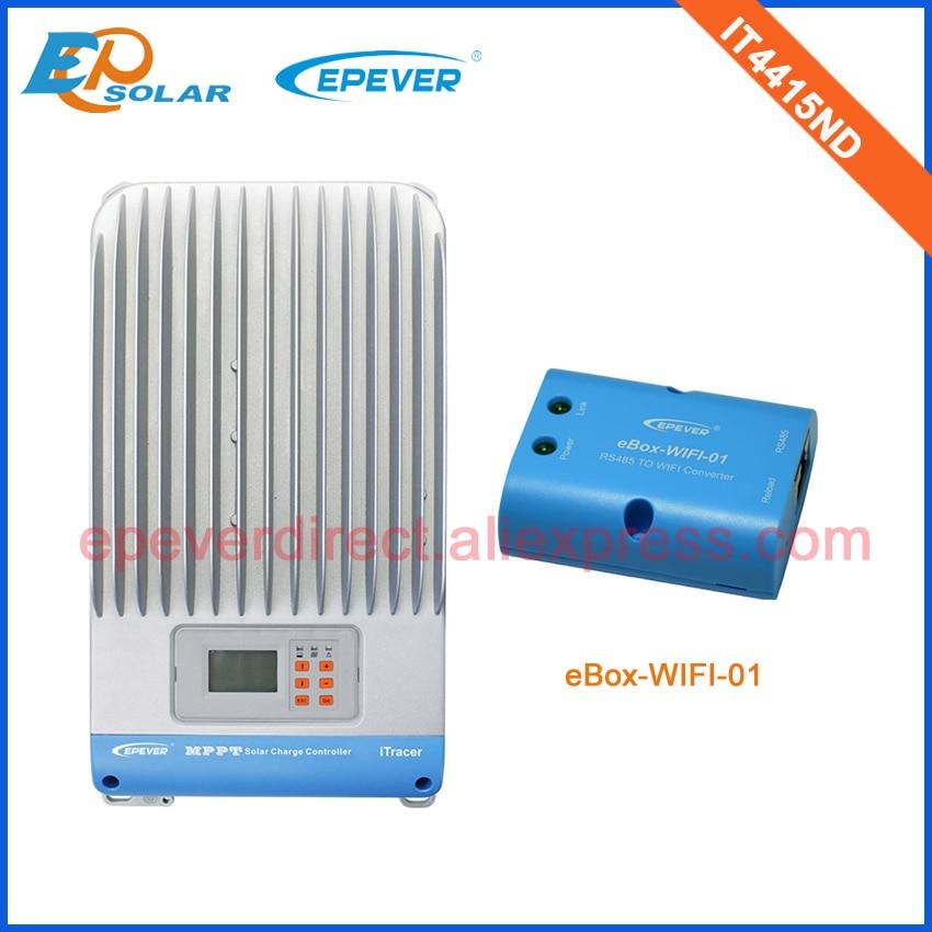 Contrôleurs de système de chargeur solaire de batterie externe avec la boîte de fonction de wifi IT4415ND 45A 45amp EPSolar/EPEVER