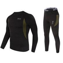 Top quality  thermal underwear men sets compression fleece sweat quick drying segunda pele termica homem clothing