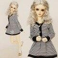 Прекрасный БЖД Кукла Полосой Платье для BJD Куклы 1/3 SD10/13, SD16 LUTS. AS. DZ DOD SD BJD Куклы CW11