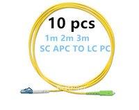FirstFiber 1 м 2 м 3 м 10 шт. LC UPC К SC APC G657A LC PC волоконно-оптический кабель, перемычка, патч-корд симплексный 2,0 мм ПВХ SM