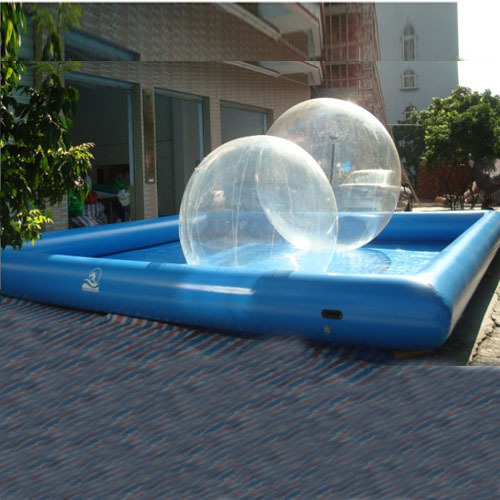 Hot sale inflatable water walking zorb pool for zorbing inflatable swimming pool large for Bulk water delivery for swimming pools