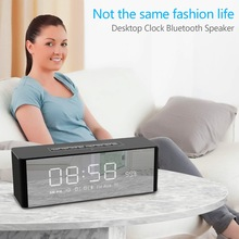 Samtronic S06 Portable Bluetooth Alarm Clock Speaker FM  Radio Wireless Stereo Speaker Bluetooth for Phone  with TF  Speakers