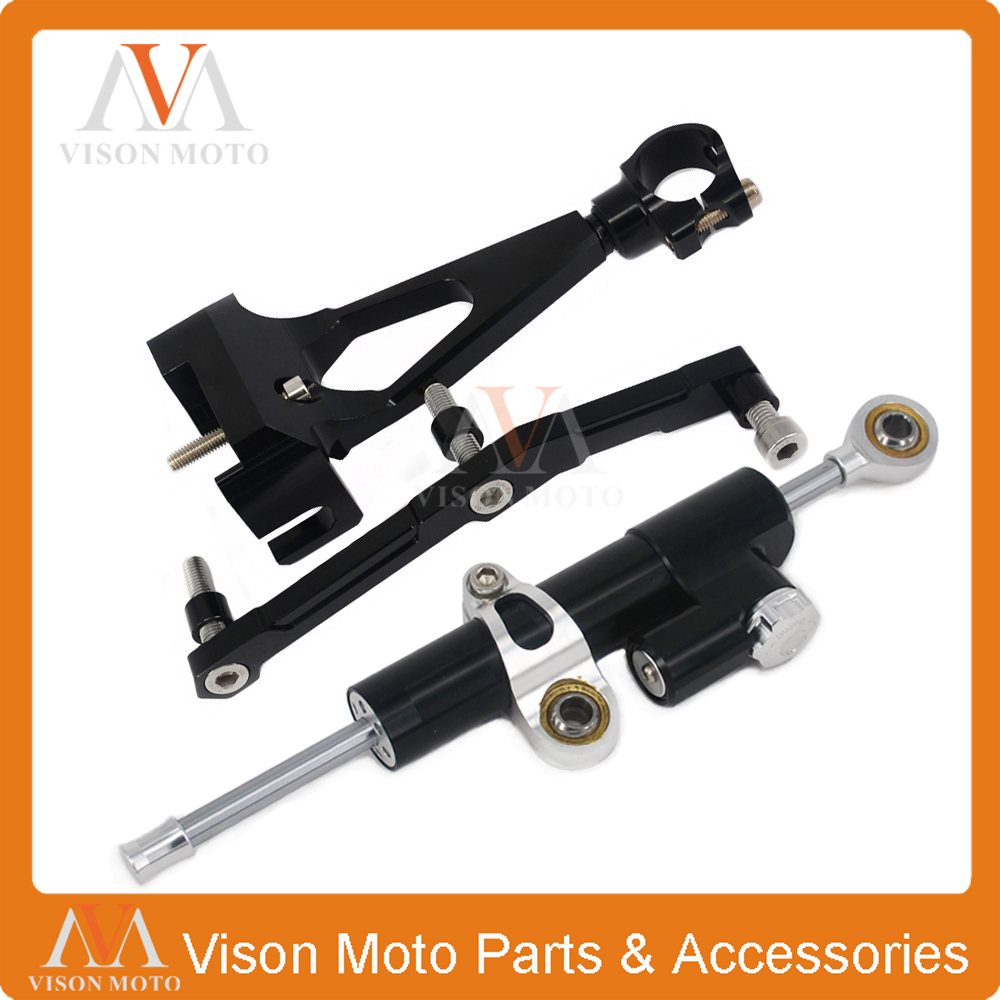 Фотография CNC Steering Damper Set Stabilizer With Bracket Mounting assemblly For YAMAHA MT09 2013 2014 2015 2016 13 14 15 16