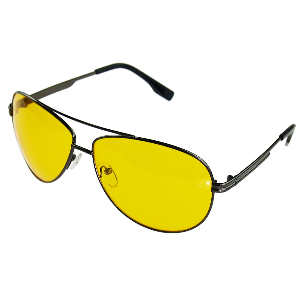 Hot Yellow Aviation Sunglasses Women Day Night Vision Glasses Driving Car Brand Male Goggles Sunglasses Night Light Glasses