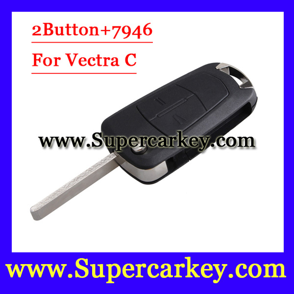 Free Shipping 1pcs Excellent Quality 2 Buttons Flip Remote Key with PCFf7946 Chip For Opel Vectra