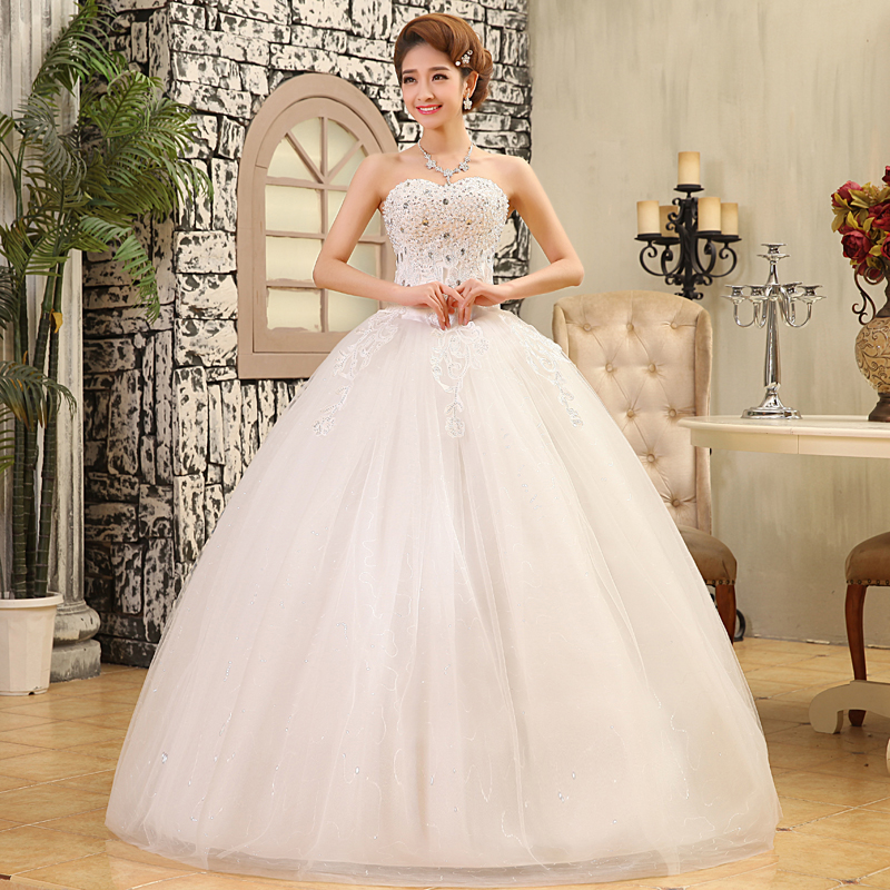 real photos 2016 spring and summer fashion new shelves stamp pearl bra wedding dresses wedding bride