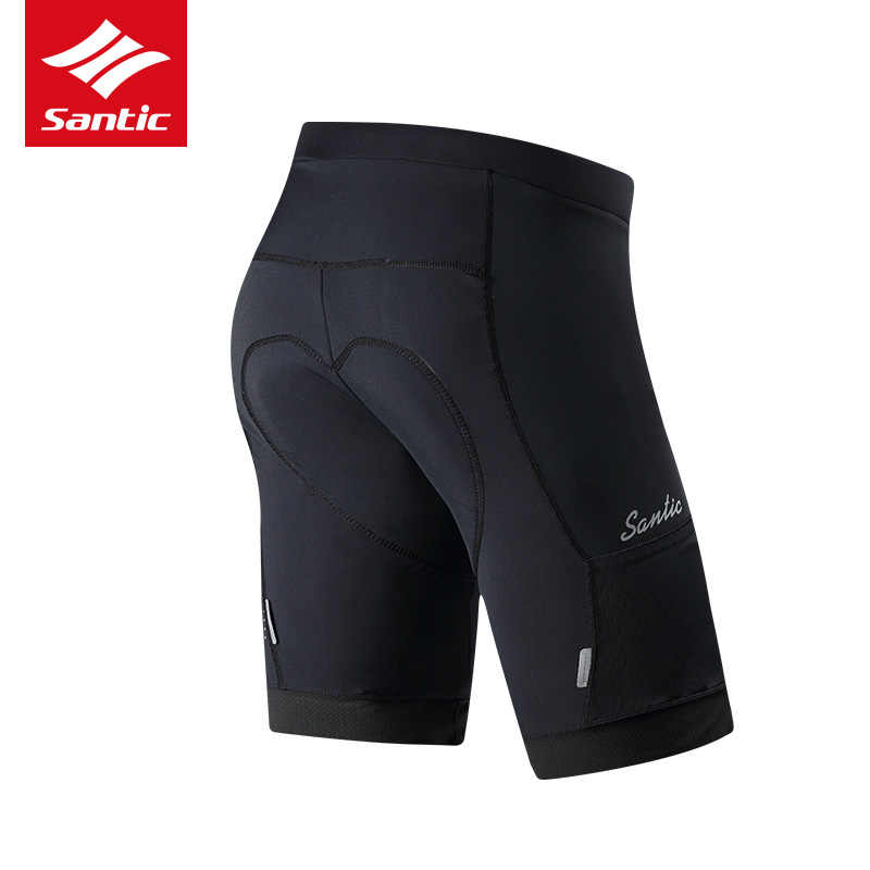 Santic italian Coolmax 4D 패딩 사이클링 반바지 Shockproof MTB 자전거 반바지 Road Bike Shorts Ropa Ciclismo Tights For Man