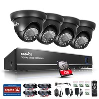SANNCE 8CH HD 1080N DVR 1080P NVR CCTV System 4pcs 720P TVI Security Cameras IR Indoor
