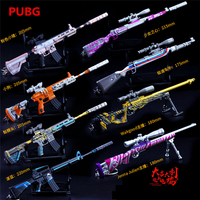 PUBG Game Playerunknown's Battlegrounds New Camouflage Graffiti AWM 98K M416 Cosplay Props Gun Keychain Toy 6 Pcs/Set Wholesale