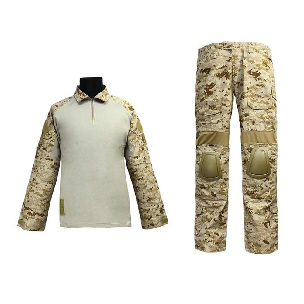 где купить us army military uniform for men training combat EMERSON Navy Seals Combat Set BDU Uniform (AOR1 MC AT Marpat Woodland) по лучшей цене