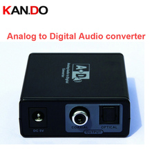3089 PUP-Analog L/R RCA to Digital Coaxial Audio Converter Adapter w/ 3.5mm Jack Digital Optical Coaxial Audio Converter