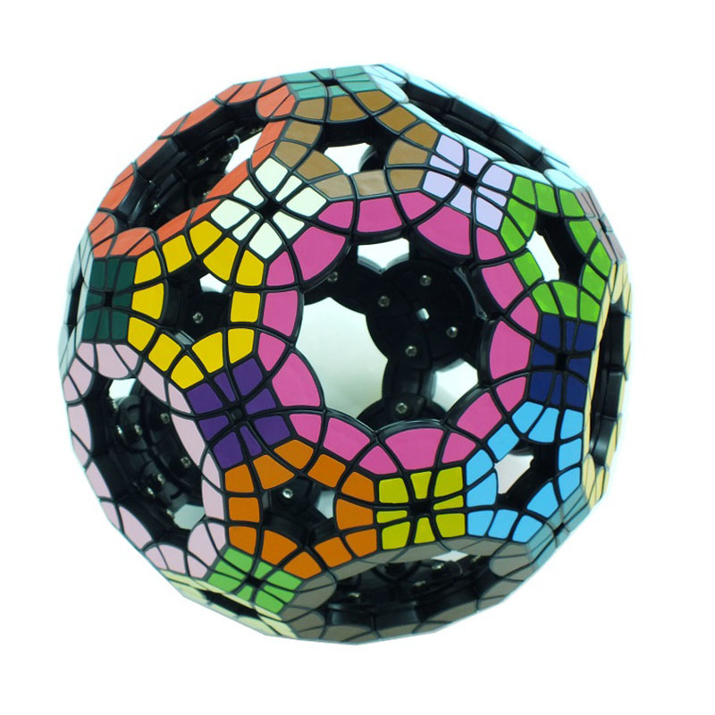 YKLWorld 62-Sided Hollow Football Tuttminx Professional Magic Cube PVC Sticker Cubo Magico Puzzle Game Education Toy Gift -48 qiyi megaminx magic cube stickerless speed professional 12 sides puzzle cubo magico educational toys for children megamind