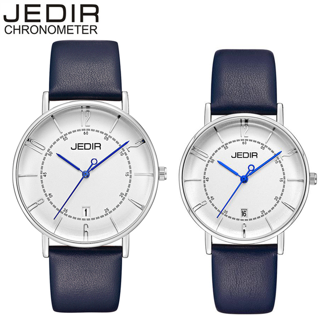JEDIR Women Dress Watches Luxury Lovers Couple Watches Men Date Waterproof Women