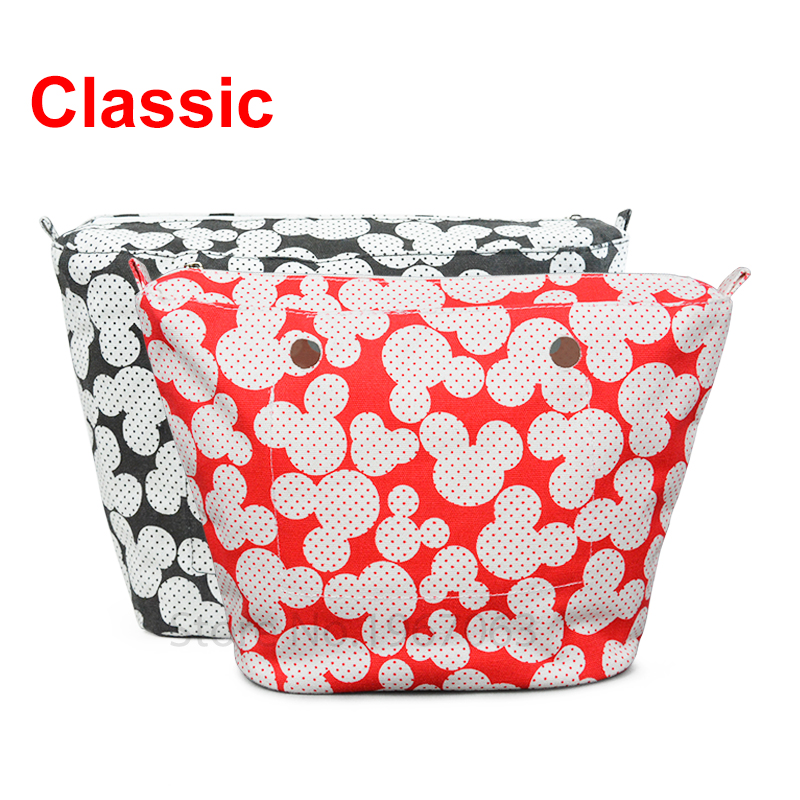 1 piece Colourful Insert Lining Inner Pocket For Classic Big Obag o bag women's should bags Totes Handbags new colorful cartoon floral insert lining for o chic ochic canvas waterproof inner pocket for obag women handbag