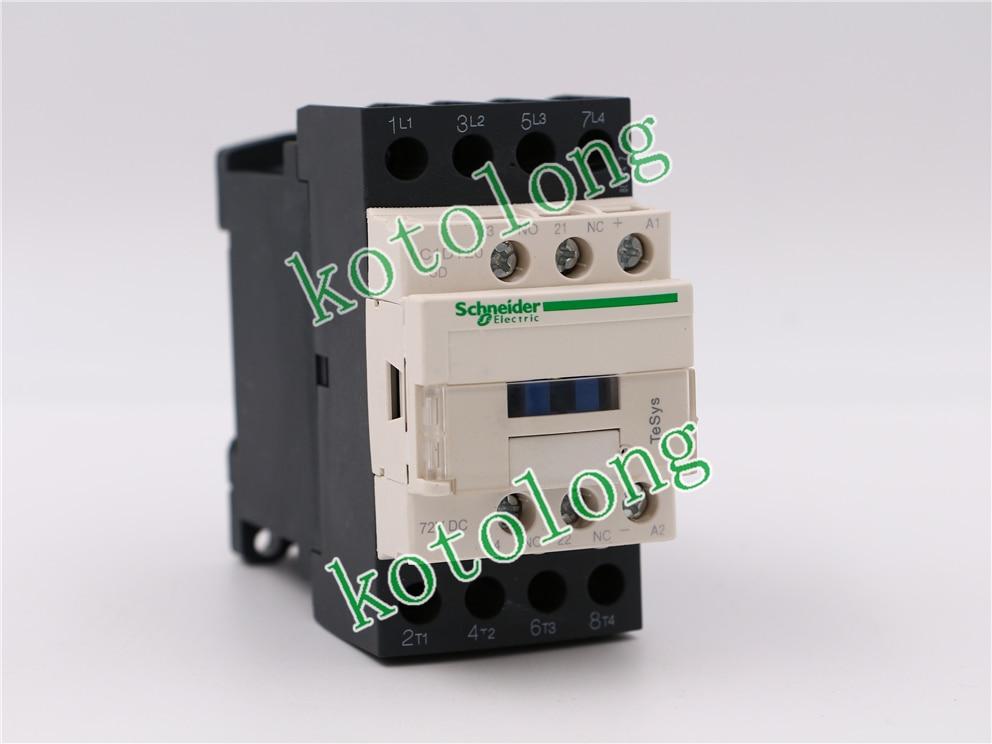 DC Contactor LC1DT20 LC1-DT20 LC1DT20SD LC1-DT20SD 72VDC lc1d series contactor lc1d25 lc1d25kd 100v lc1d25ld 200v lc1d25md 220v lc1d25nd 60v lc1d25pd 155v lc1d25qd 174v lc1d25zd 20v dc