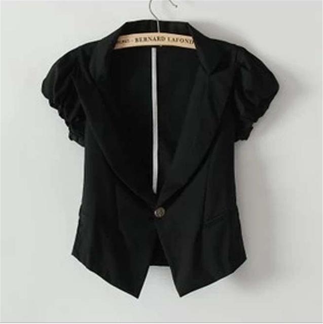 Preto de Poliéster de Cor Sólida tops para As Mulheres Mulheres Blazer Terno Elegante Outerwear Clássico Mulheres Blazer nova moda