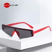 UVLAIK New Cat Eye Sunglasses Men Sports Goggles Unisex Red Glasses for Women Brand Designer Vintage Sun UV400 Shades
