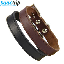 Genuine Leather Dog Collar Simple Design Chihuahua Small Dog Collar Adjustable Cat Collar Leather Lead collar perro petshopXS-XL