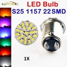 Hippcron 1 x Wit 1157 22SMD P21W BA15S LED Lamp Car Auto Lights Parking Lamp 12 v Gratis Verzending