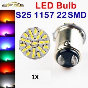 Image 1 - Hippcron 1 x Wit 1157 22SMD P21W BA15S LED Lamp Car Auto Lights Parking Lamp 12 v Gratis Verzending