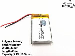 Image 4 - 2 sztuk/partia dobrej jakości 3.7 V, 1200 mAH, 803048, polimerowa bateria litowo jonowa/akumulator litowo jonowy do TOY, POWER BANK, GPS, mp3, mp4