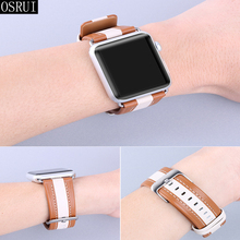 Strap for Apple Watch 4 Band 44mm 40mm correa iwatch band 42mm 38mm 3 2 1 leather bracelet for pulseira apple watch accessories strap for apple watch band 4 44mm 40mm correa iwatch 42mm 38mm 3 2 1 leather double tour bracelet apple watch 4 accessories