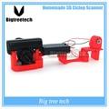 Entrega rápida de varredura a laser scanner de Scanner 3D 3D tridimensional simples barato fácil de usar DIY 3D scanner principal kit câmera