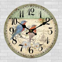 Europe Retro Clock Creative living room American restaurant Bird clock Simple decorative clock Bedroom fashion quartz clock