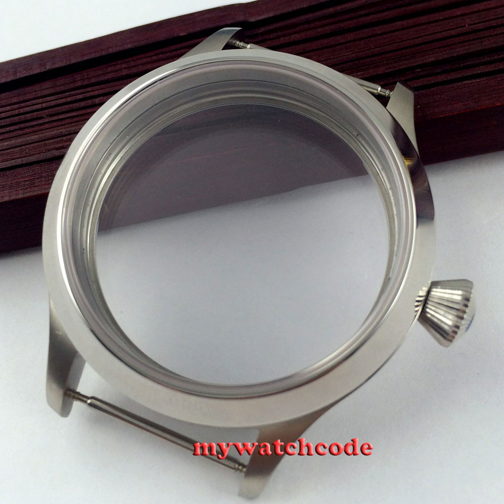 45mm Sapphire Crystal polished Watch CASE fit eat 6498 6497 movement C3045mm Sapphire Crystal polished Watch CASE fit eat 6498 6497 movement C30