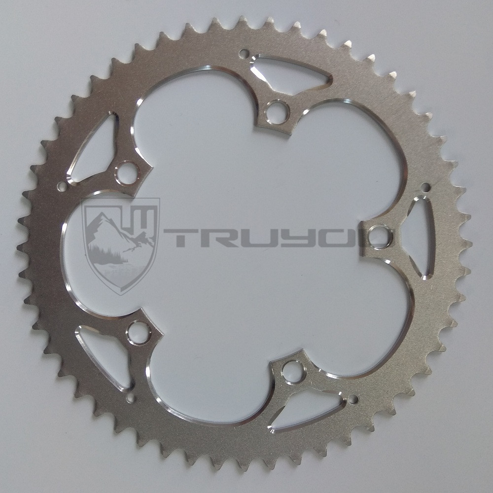 TRUYOU Chain Wheel Road Bicycles Parts Crankset Bicycle Chainring 130BCD 38T 39T 40T 42T 44T 48T 53T 56T CNC Silvery Chain Rings 750nyp p термос biostal охота 0 75л 2 пробки