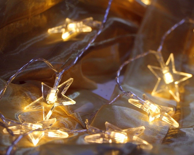 Battery 8M/10M String LED Lights Star Decorative Fairy Lights For Wedding Party Christmas Holiday Garland Decorations Home Decor