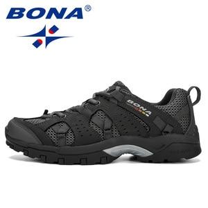 Image 5 - BONA Men Hiking Shoes Lace Up Men Sport Shoes Outdoor Jogging Trekking Sneakers Non Slip Wear Resistant Travel Shoes Comfortable