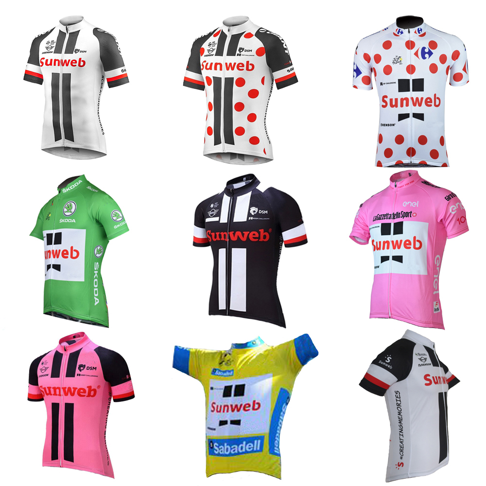 Summer SUNWEB cycling jersey ropa Ciclismo men short sleeve bike wear jersey Outdoor sports cycling clothing 9 style xintown 2018 cycling jersey clothing set summer outdoor sport cycling jersey set sports wear short sleeve jersey shorts men sets