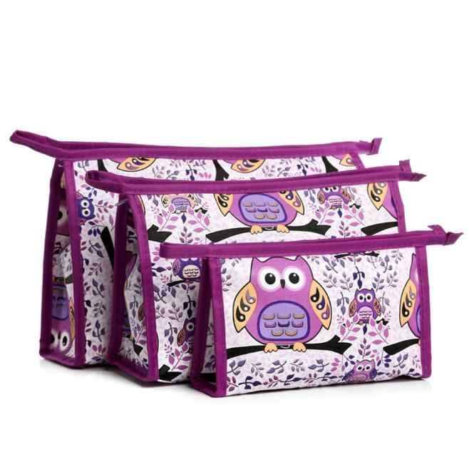 3 pcs Cosméticos de Higiene Pessoal bolsa de maquiagem estojos de cosméticos compo o saco organizador Titular Bolsa Kits Conjunto de alta qualidade das Mulheres moda