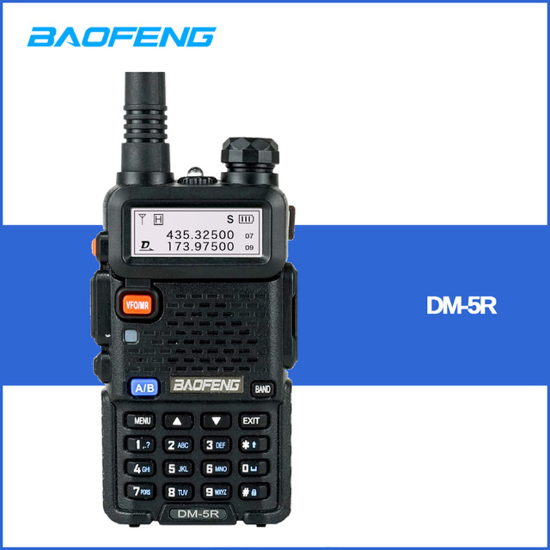 Baofeng DM 5R Digital Walkie Talkie Ham CB VHF UHF DMR Radio Station Double Dual Band Transceiver Boafeng Scanner Communicator-in Walkie Talkie from Cellphones & Telecommunications