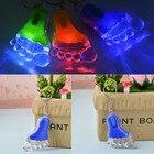Plastic 2016 Little feet New Super Bright Keyring LED Lamp Hot Random Color Flashlight