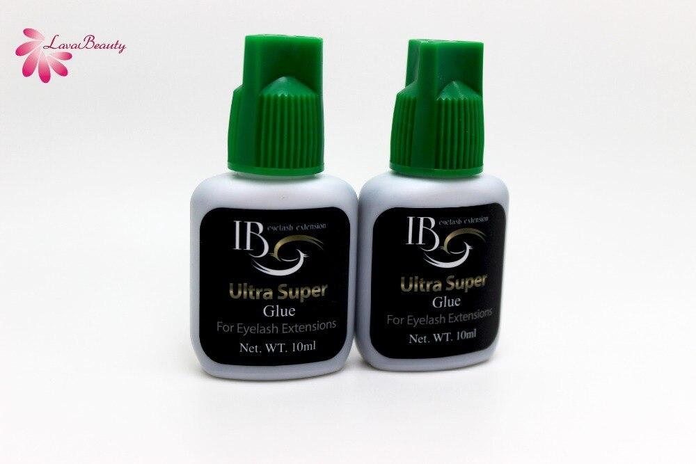 Free Shipping 10 bottles lot IB Ultra super Glue Individual fast drying eyelash extensions glue green