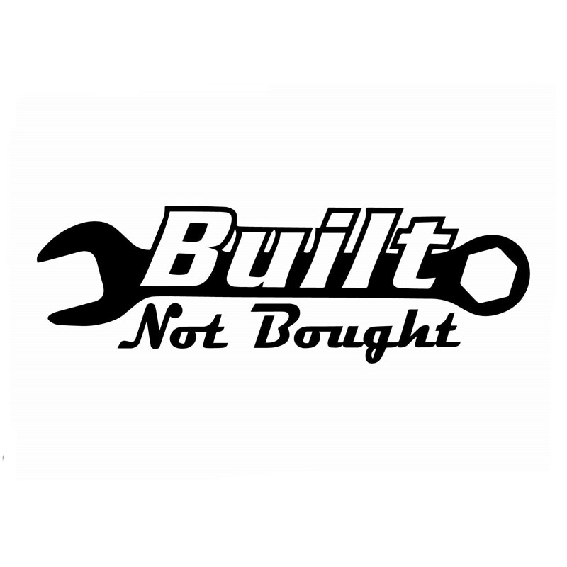 14.1CM*4.5CM Built Not Bought Jdm Sticker Decal Vinyl Funny Illest Fresh Car Motorcycle Accessories Sticker Black Sliver C8-0430