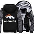 Wholesale Price American Foot Ball Fan Broncos Men's Hoodies And Sweatshirts Zipper Jacket Hoodie Sportwear Tracksuits US Size