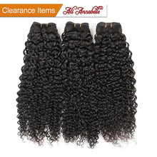 ALI ANNABELLE HAIR Brazilian Kinky Curly Hair 100% Human Hair Weave Bundles 1/3/4 Pieces Natural Color Remy Hair Bundles(China)