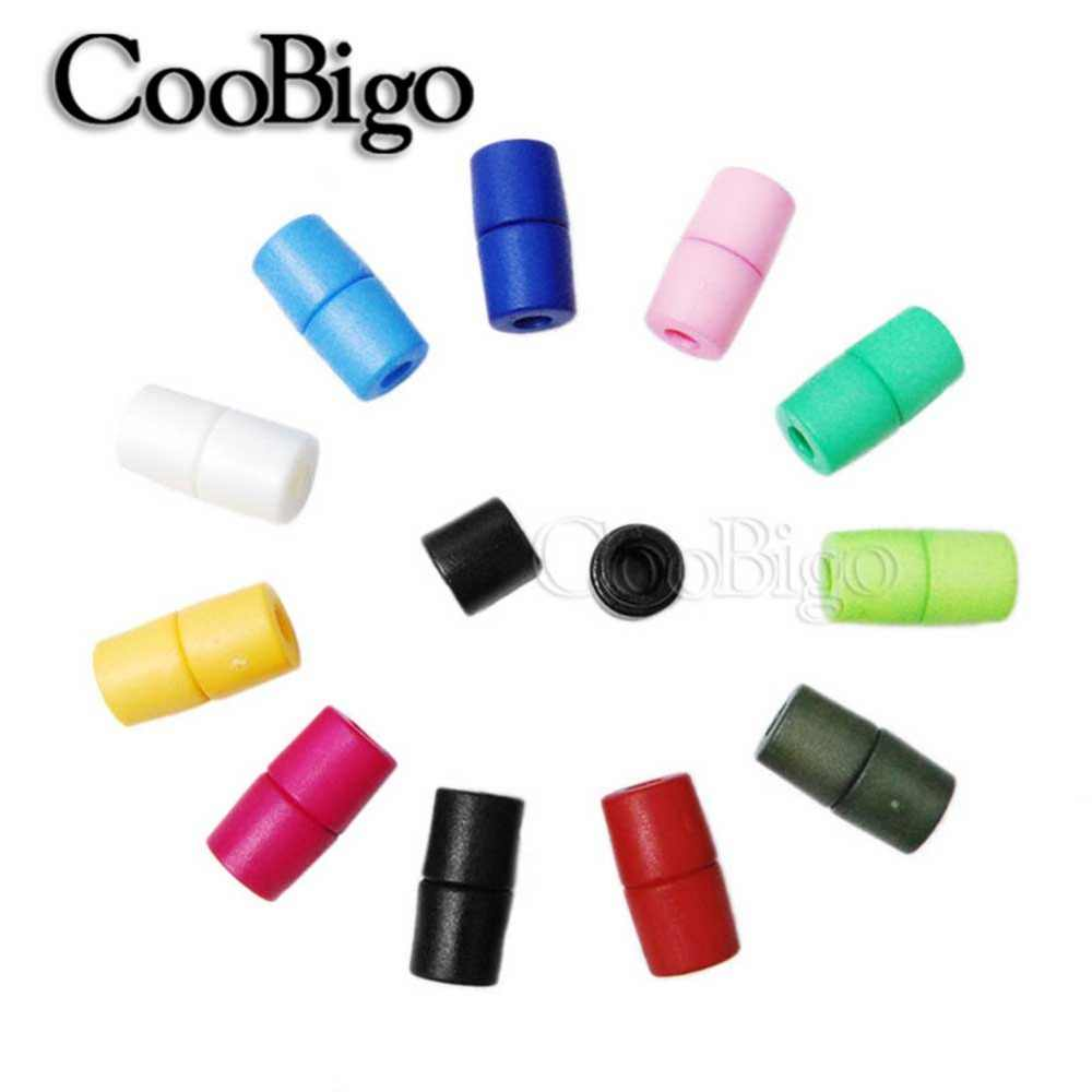 Black, 1000 CHENGYIDA Cord Locks Silicone Toggles Lanyard Safety Breakaway Pop Barrel Connectors for Paracord Ribbon Lanyard Strap Necklace Round Buckle Cord Adjuster Non Slip Stopper